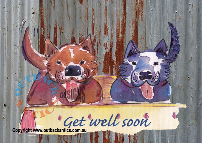 Get Well dogs 6Pack